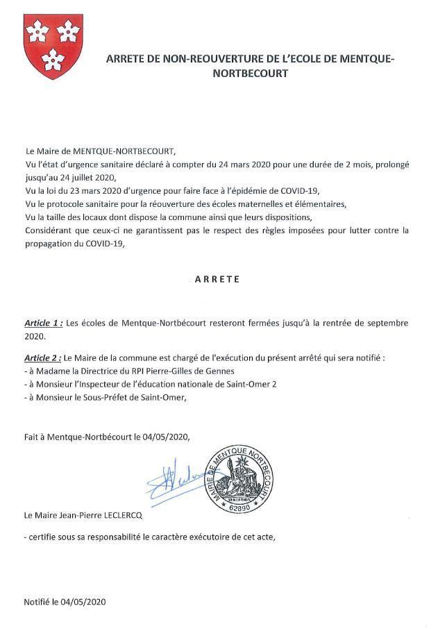 Note info report ouverture mentque nortbecourt