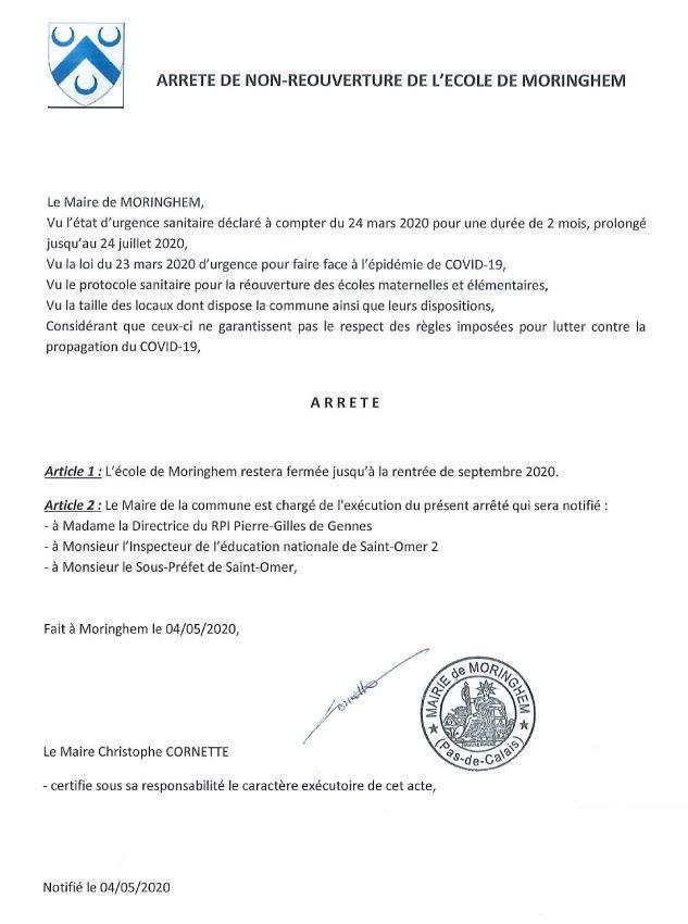 Note info report ouverture moringhem
