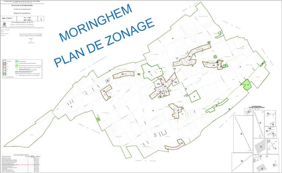 Plan zonage